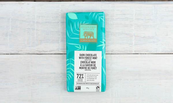 Dark Chocolate with Deep Forest Mint (Rainforest Bar)