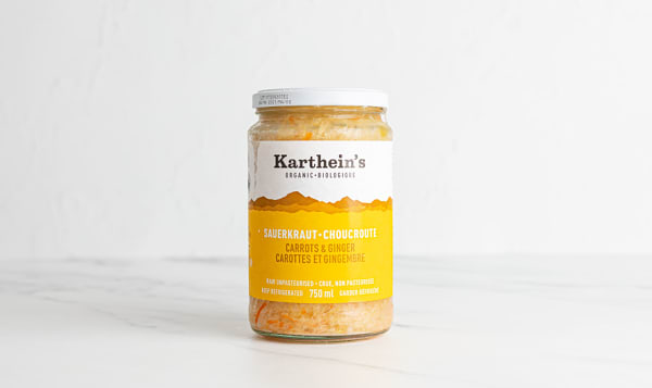 Organic Unpasteurized Sauerkraut - Carrot & Ginger