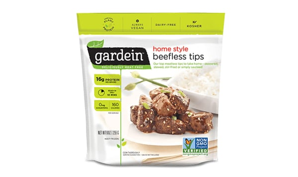 Home Style Beefless Tips (Frozen)