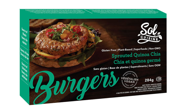 Sprouted Quinoa Chia Burger (Frozen)