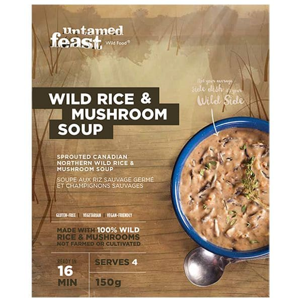 Sprouted Rice and Mushroom Soup