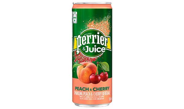 Peach & Cherry Sparkling Juice