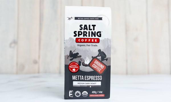 Organic Metta Espresso Dark Coffee, GROUND