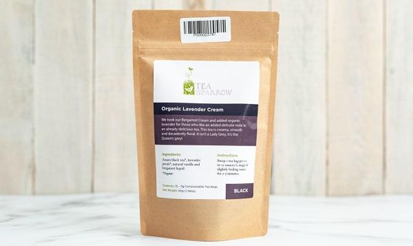 Organic Lavender Cream Tea Bags