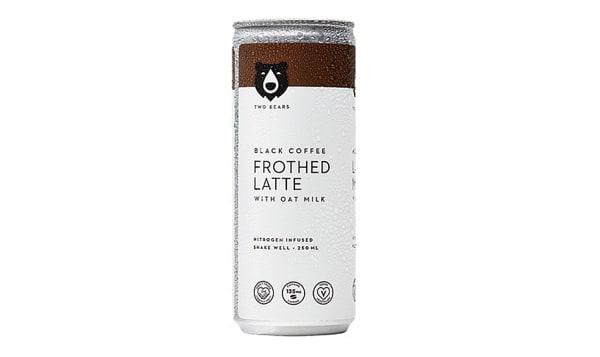 Frothed Black Oat Milk Latte