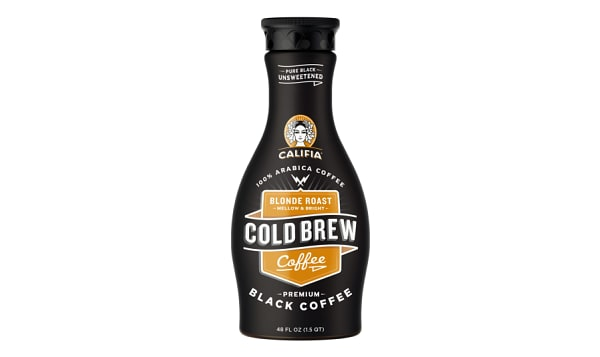 Pure Black Cold Brew Coffee - Unsweetened Blonde Roast