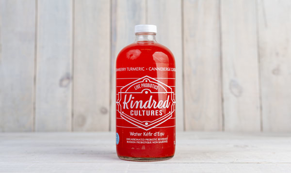 Cranberry Turmeric Kefir Water