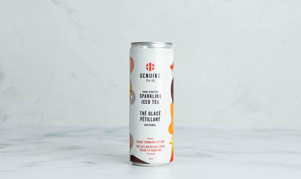 Organic Peach Turmeric Ceylon Sparkling Iced Tea