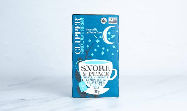Organic Snore & Peace: Chamomile, Lemon Balm & Lavender Herbal Tea