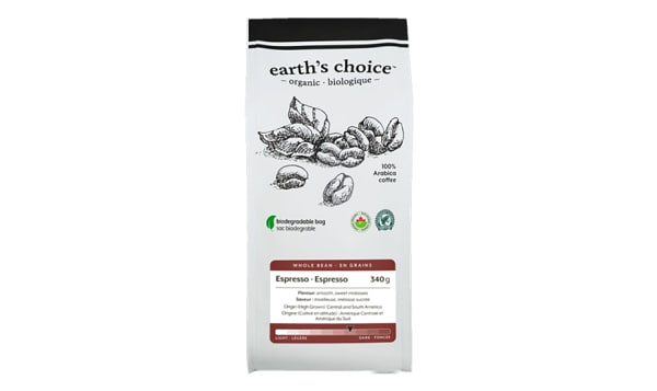 Organic Espresso Coffee, Whole