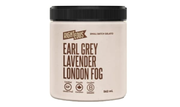 Earl Grey Lavender London Fog Gelato (Frozen)