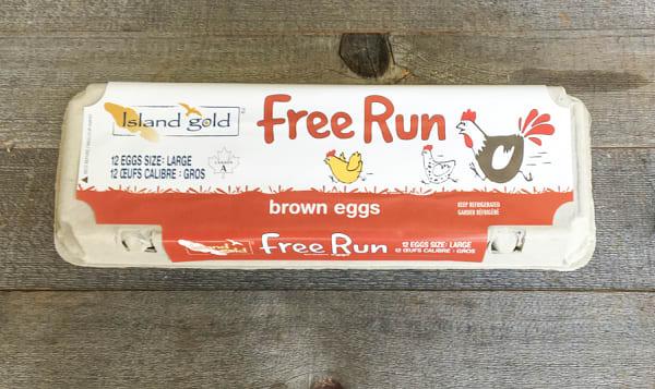 Free Run Large Brown Eggs