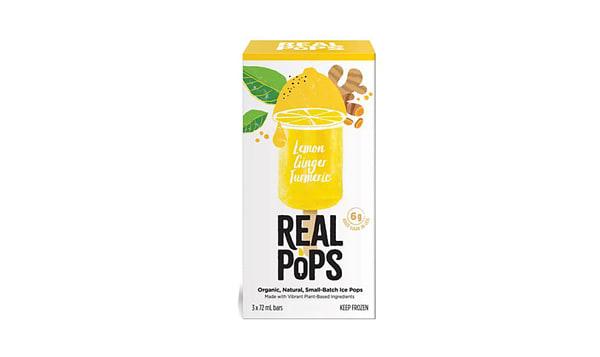 Organic Lemon Ginger Turmeric Pops (Frozen)