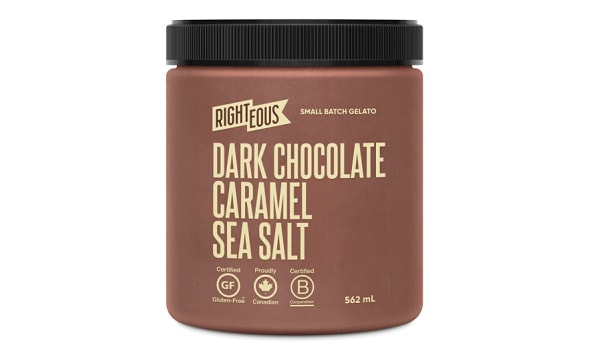 Dark Chocolate Caramel Sea Salt Gelato (Frozen)