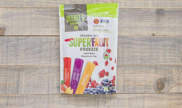 Organic Super Fruit Freezies   freeze-at-home juice bar