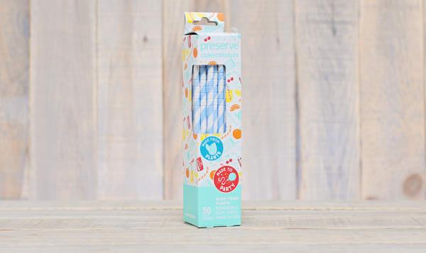 Compostable Straws - Blue