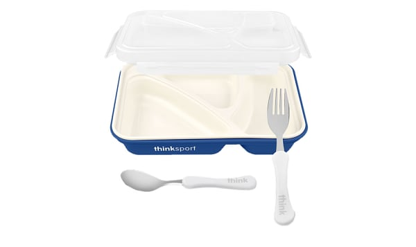 Airtight Lunch Container With Fork/Spoon - Dark Blue