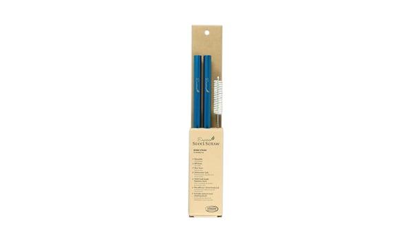 COMBO: Steel Bubble Tea Straws - 9.5  Blue