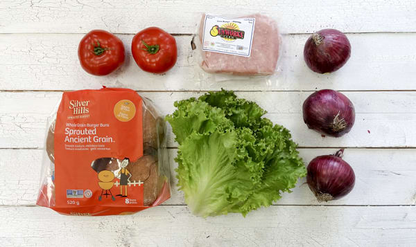 Chicken Burger Ingredient Bundle