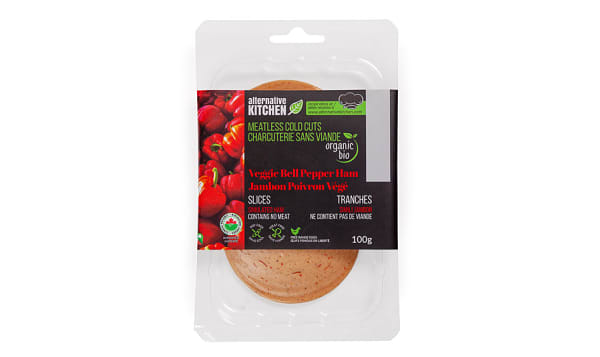Organic Bell Pepper Veggie Ham, Sliced