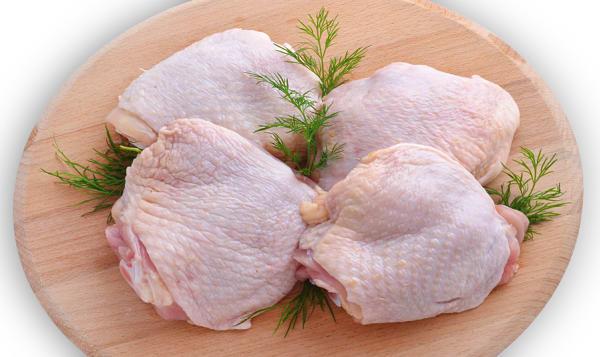 Chicken Thighs, Bone In, Skin on (Frozen)