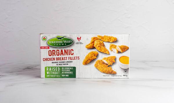 Organic Breaded Chicken Fillets (Frozen)
