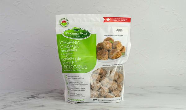 Organic Frozen Fully Cooked Chicken Meatballs (Frozen)