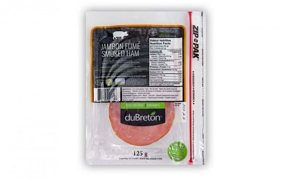Organic Smoked Ham, Sliced