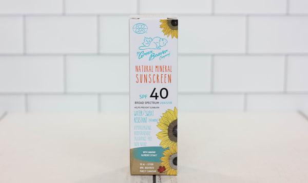 Organic Adult SPF40 Suncare Lotion