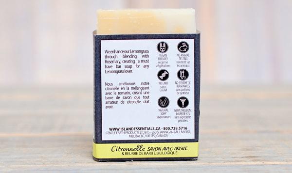 Lemongrass (w Clay & Shea Butter) Bar Soap