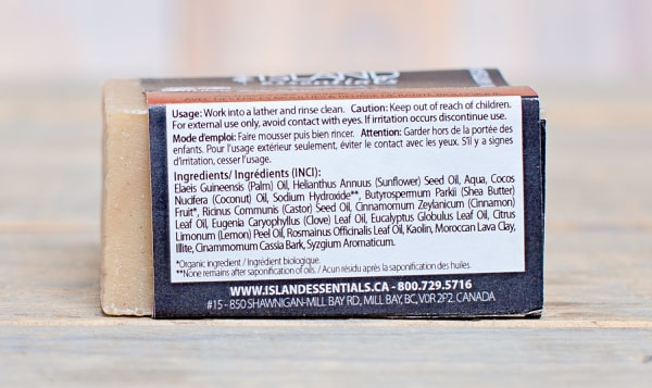 For Thaves Chai (Cinnamon Eucalyptus Lemon) Bar Soap