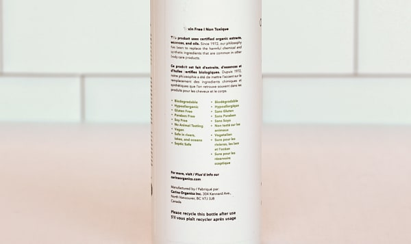 Organic Unscented Leave In Conditioner
