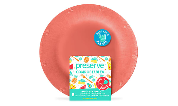 Compostable Small Plates - Red