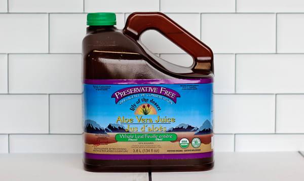 Organic Whole Leaf Aloe Vera Juice, Preservative Free