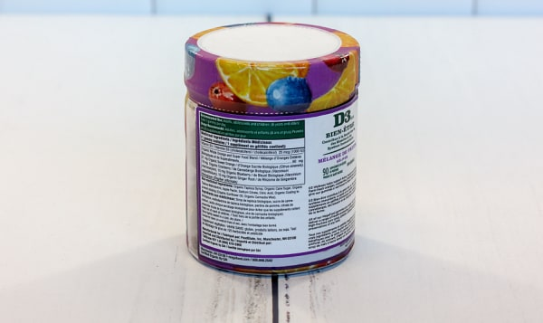 Organic Vitamin D3 Wellness (1000 IU) Mixed Fruit Gummies