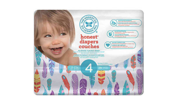 Diapers Size 4; Painted Feather