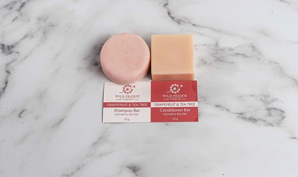 Shampoo and Conditioner Bar Set - Grapefruit & Tea Tree
