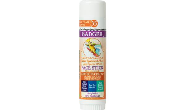Organic SPF 35 Clear Zinc Kids Face Stick