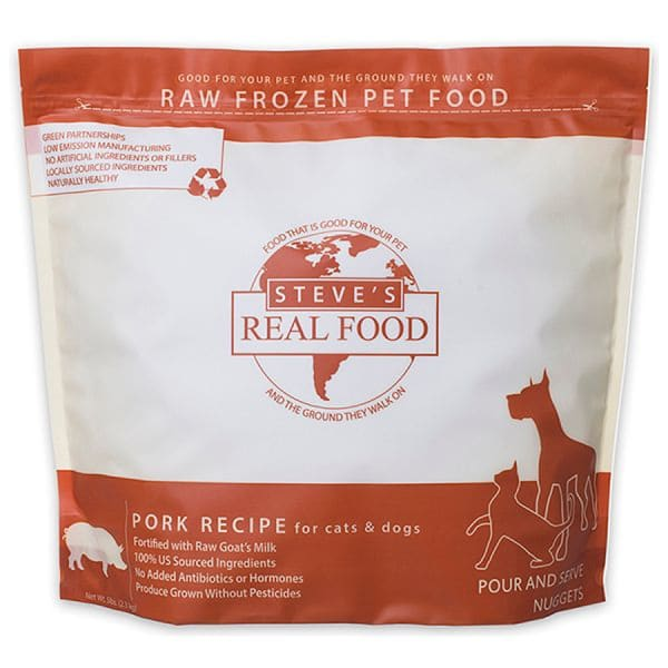 Raw Pork Nuggets for Dogs & Cats (Frozen)