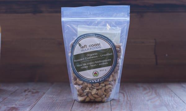 Organic Whole Cashews - Roasted & Unsalted