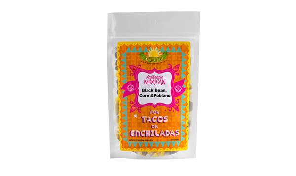 Black Bean, Corn & Poblano Taco Filling
