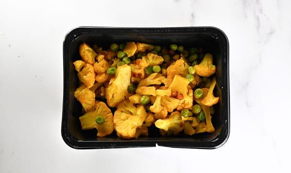 Turmeric Braised Cauliflower & Sweet Peas (Frozen)