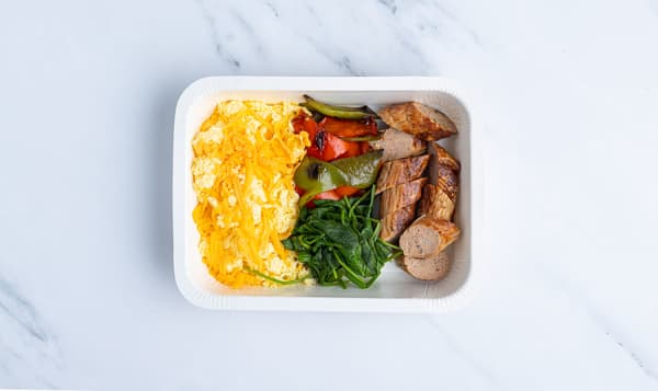 Keto Scrambled Egg with Breakfast Sausage