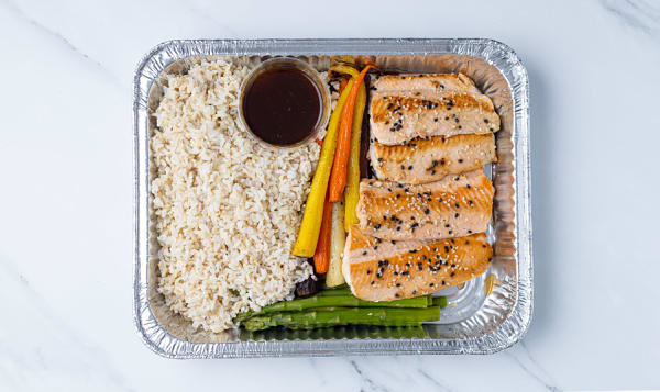 Sesame Ginger Glazed Salmon with Rainbow Carrots - 4 Person
