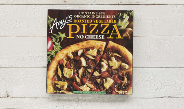 Organic Roasted Vegetable Pizza, No Cheese (Frozen)
