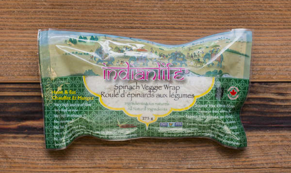 Spinach Wrap w/ Mixed Veggies & Wild Rice (Frozen)