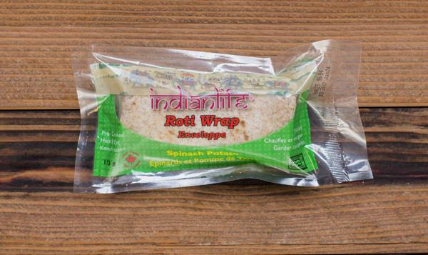 Spinach Potato Roti Roll (Frozen)