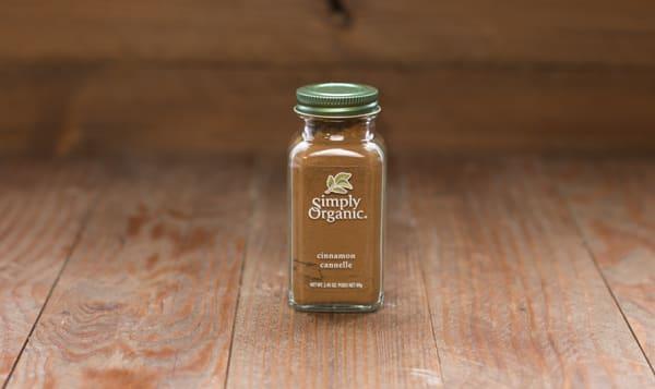 Organic Cinnamon, Ground in Glass Bottle
