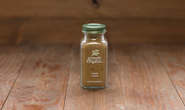 Organic Cumin Seed, Ground, in Glass Bottle