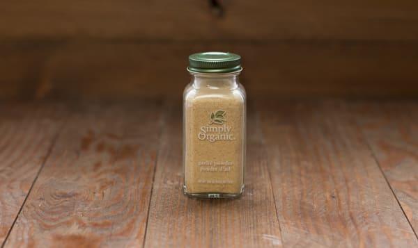 Organic Garlic Powder in Glass Bottle